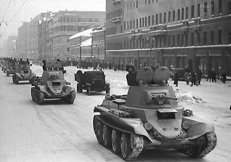 «Разгром немецких войск под Москвой». Кадр из фильма