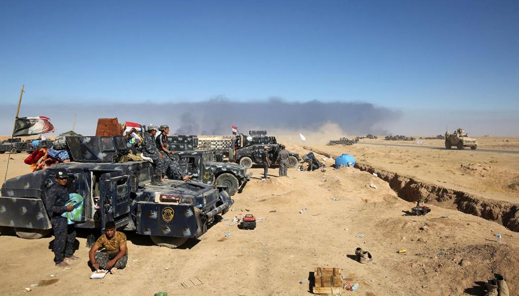 Подготовка иракской армии к наступлению на Мосул
