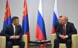 Халтмаагийн Баттулга и Владимир Путин в Будапеште