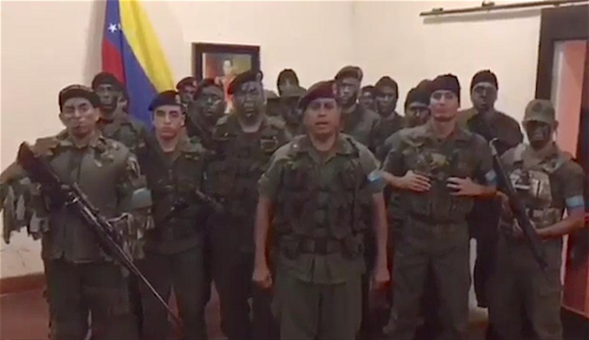 Группа активистов заявляют о начале восстания в городе Валенсия, Венесуэла. 6 августа 2017