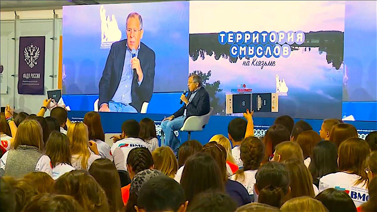 Сергей Лавров на Всероссийском молодёжном образовательном форуме «Территория смыслов»