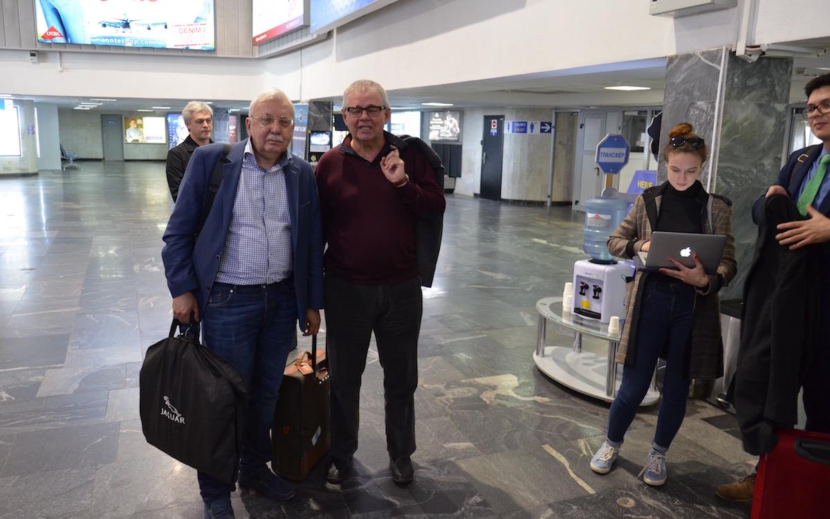 Слева направо: Виталий Третьяков, Владимир Мамонтов