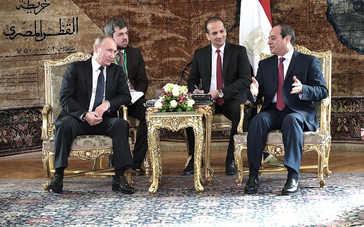 Владимир Путин и Абдель Фатах ас-Сиси