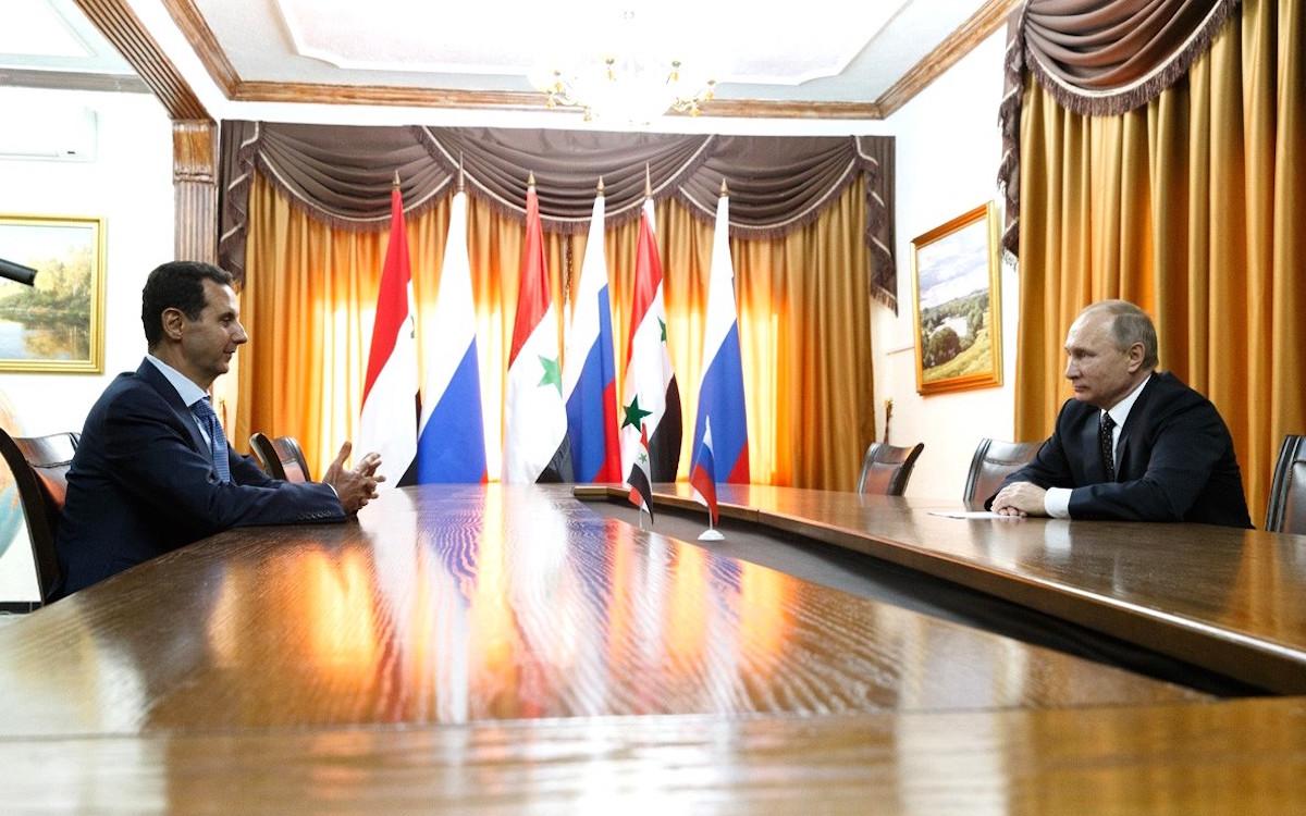 Асад и Путин в Хмеймиме