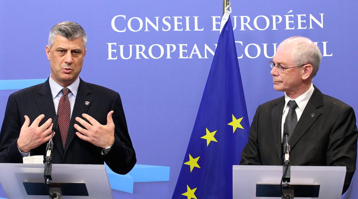 Хашим-потрошитель и председатель ЕС Херман Ван Ромпёй