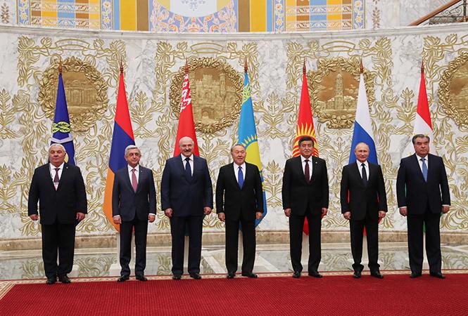 Главы стран ОДКБ на Саммите в Минске