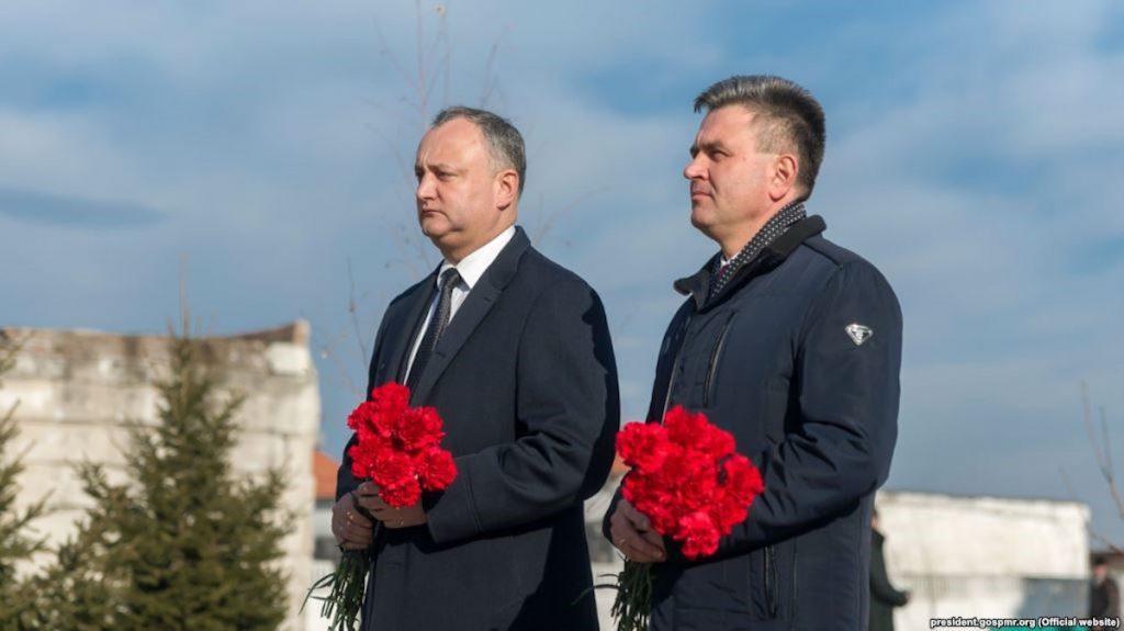 Президент РМ Игорь Додон и президент ПМР Вадим Красносельский