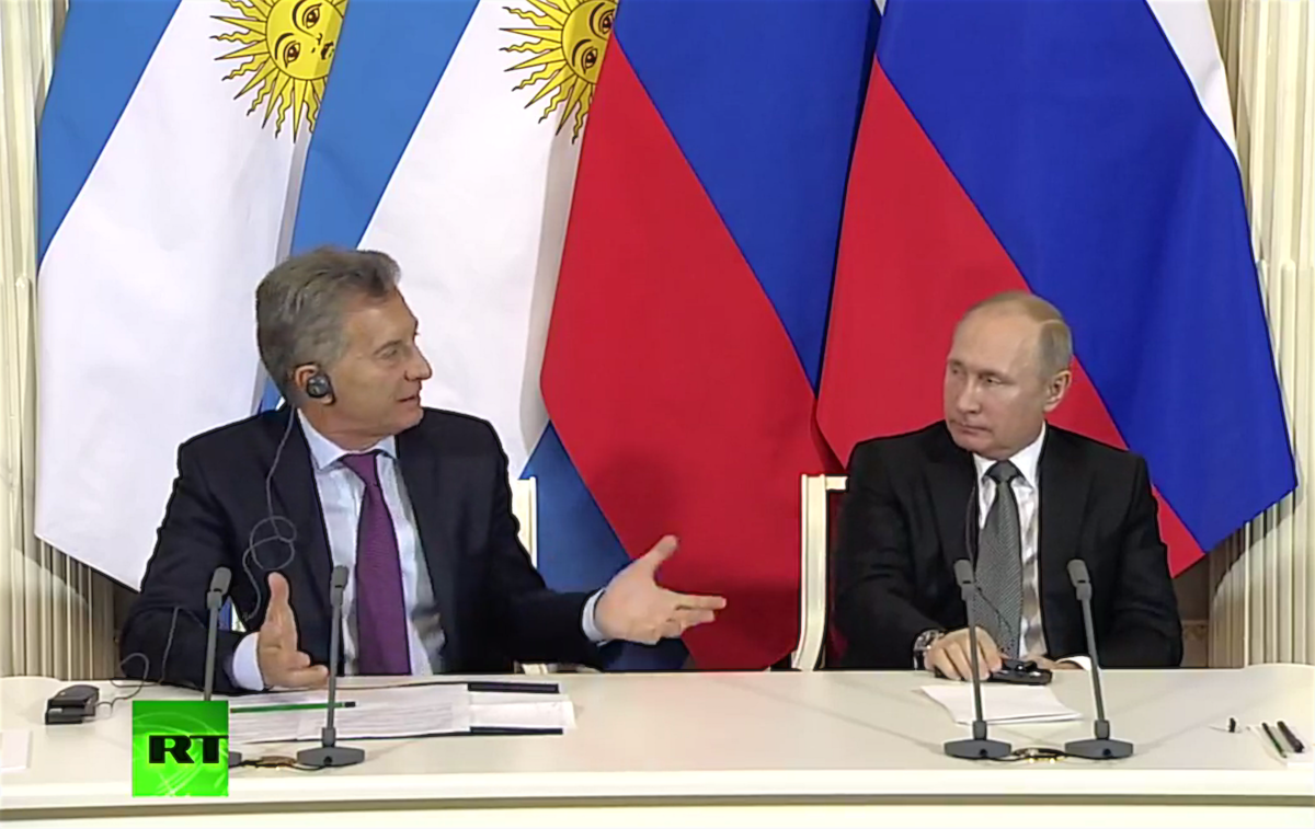 Маурисио Макри и Владимир Путин