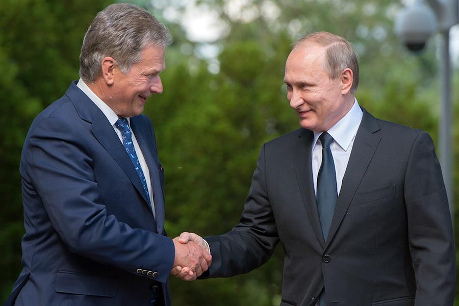 Владимир Путин и Саули Нийнистё