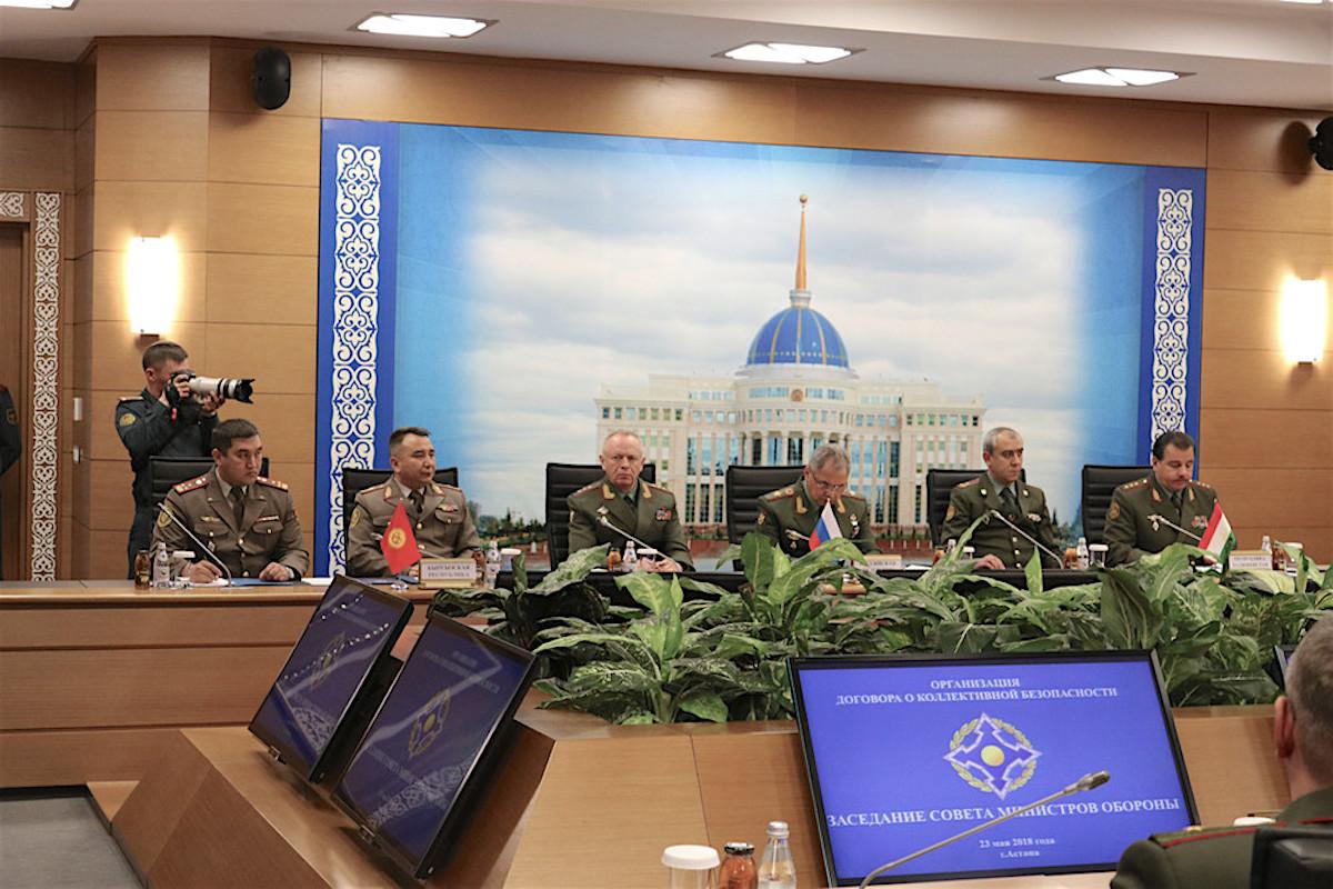 Заседание Совета министров обороны государств-членов ОДКБ. Астана 23.05.2018