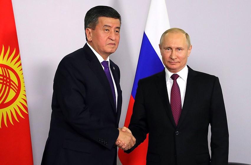 Сооронбай Жээнбеков и Владимир Путин