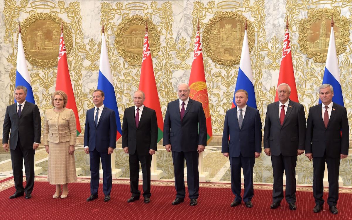 Минск. Заседание Высшего Государственного Совета Союзного государства России и Белоруссии