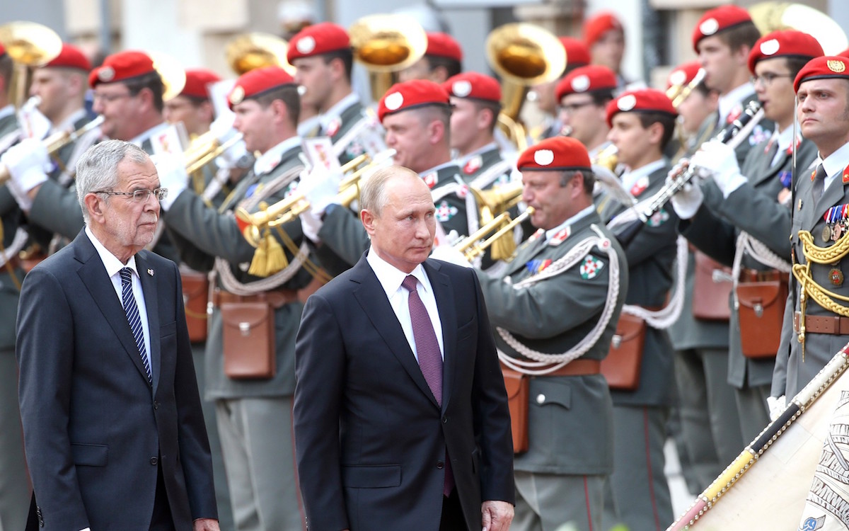 Визит В.Путина в Вену