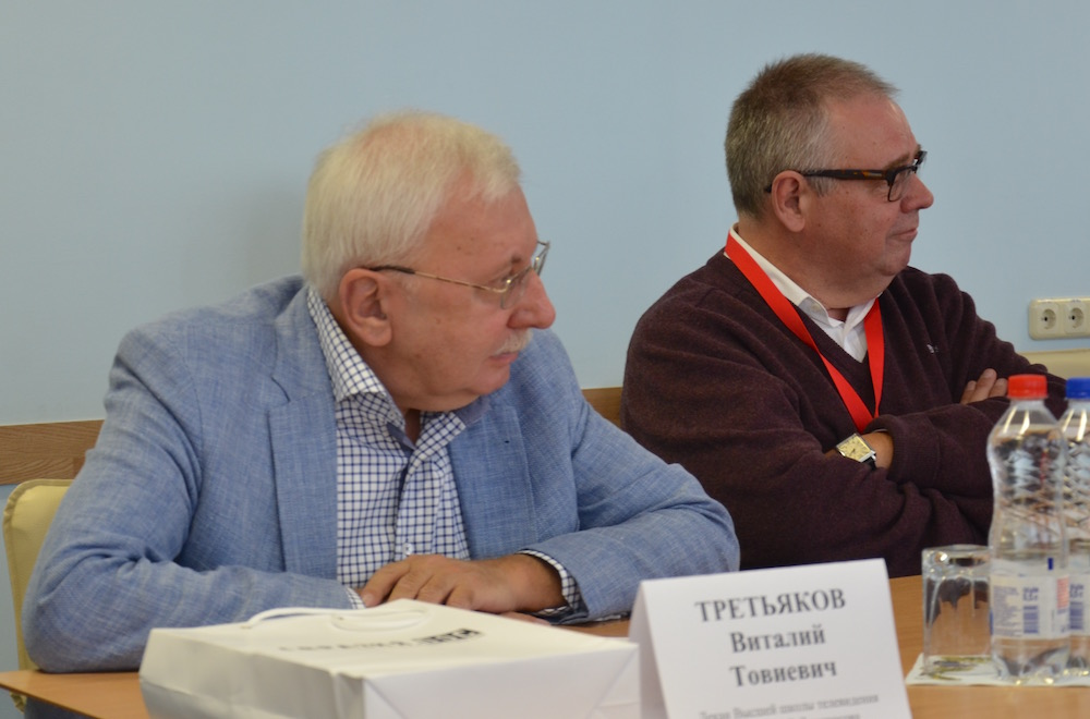 В.Третьяков (слева) и В.Мамонтов
