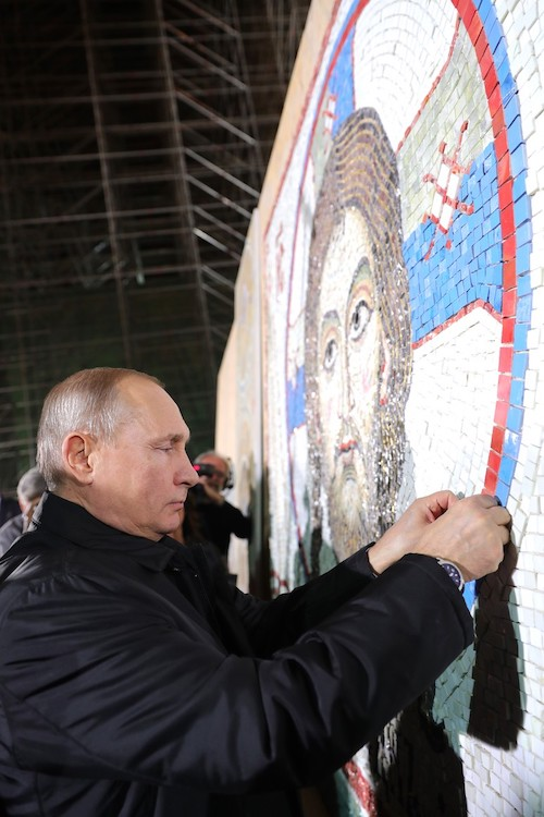 Владимир Путин в Храме Святого Саввы