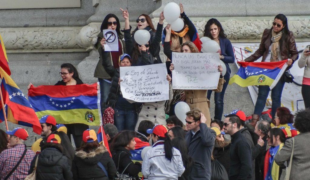 Венесуэла. Акция протеста
