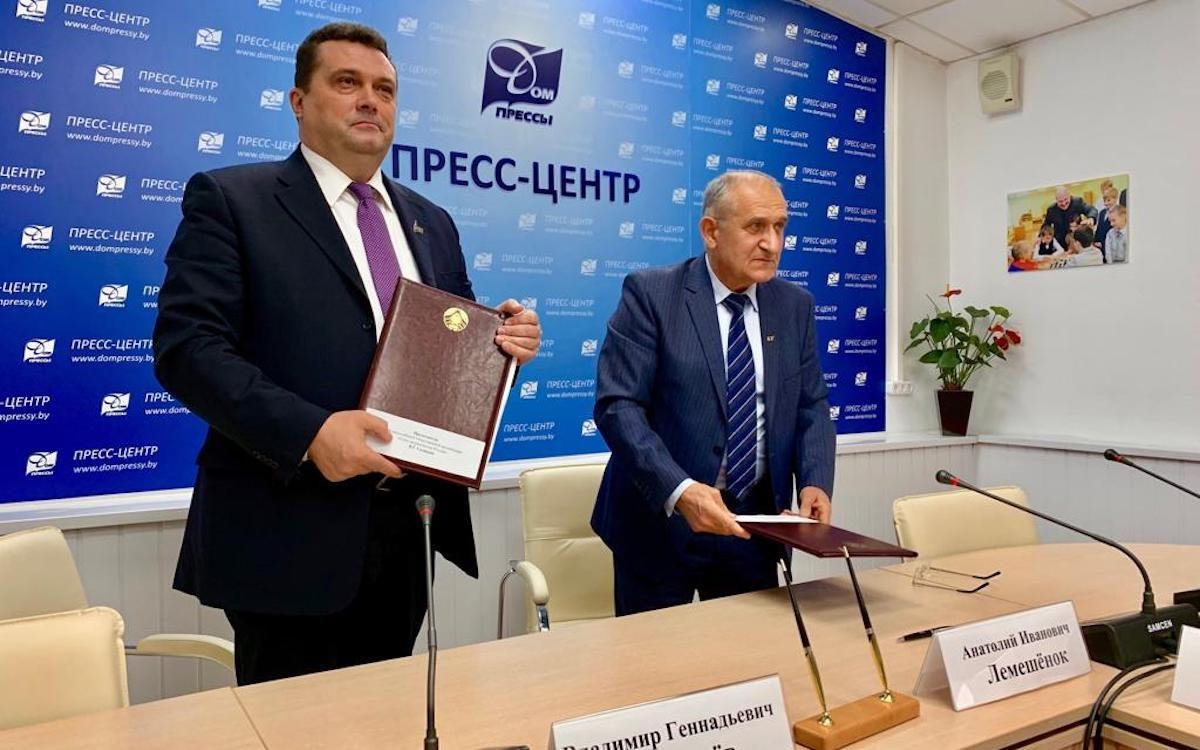 Союзы журналистов России и Белоруссии подписали Соглашение о сотрудничестве