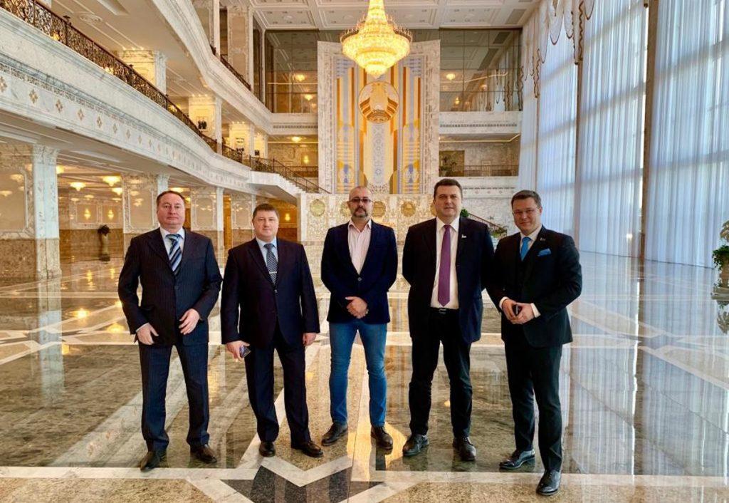 Посещение Президентского дворца в Минске