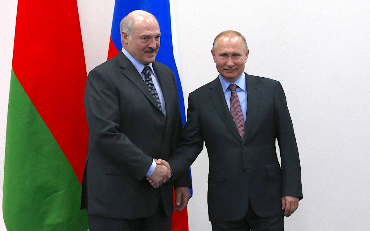 Сверка союзных часов. В.Путин и А.Лукашенко