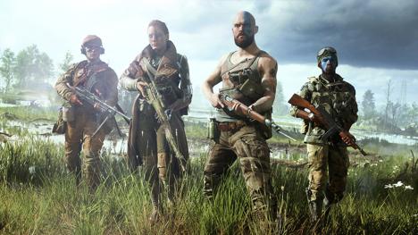 Официальный предрелизный концепт-арт видеоигры Battlefield V