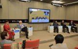 ВМеждународном мультимедийном пресс-центре МИА «Россия сегодня» состоялась пресс-конференция в формате видеомоста Москва – Минск