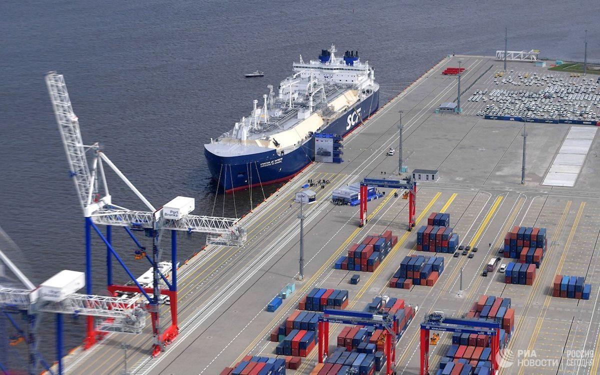 Арктический танкер-газовоз «Кристоф де Маржери» (ледового класса Arc7), разработанный для проекта «Ямал СПГ»